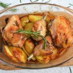 Филе индейки с курицей и овощами, запечённые в духовке